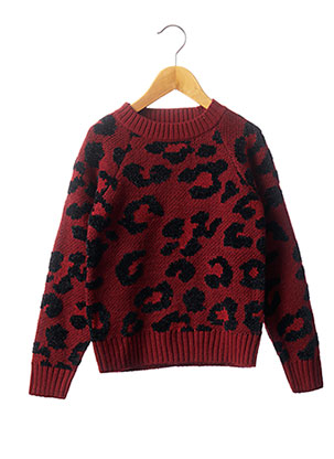 Pull col rond rouge ONLY pour fille