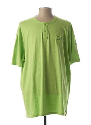 T-shirt manches courtes vert KITARO pour homme