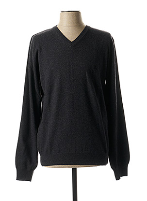 Pull col V gris KITARO pour homme