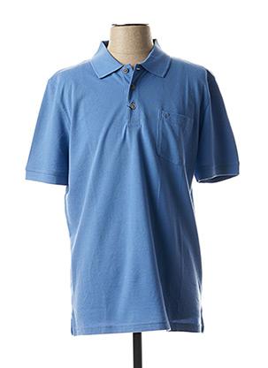 Polo manches courtes bleu PIERRE CARDIN pour homme