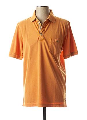 Polo manches courtes orange PIERRE CARDIN pour homme