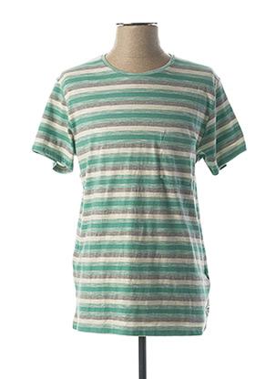 T-shirt manches courtes vert WRANGLER pour homme