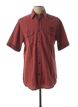 Chemise manches courtes rouge MONTE CARLO pour homme