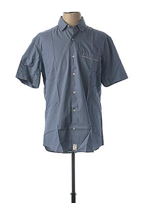 Chemise manches courtes bleu PIERRE CARDIN pour homme
