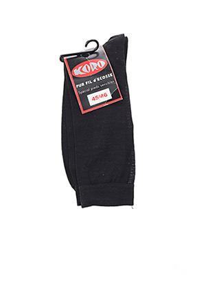 Chaussettes noir KORO pour homme