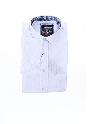 Chemise manches courtes blanc MONTE CARLO pour homme