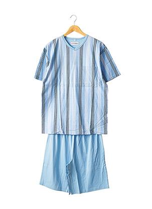 Pyjashort bleu REDFORD pour homme