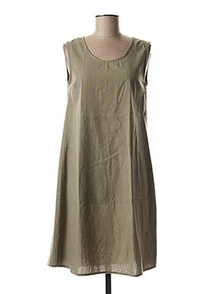 Robe mi-longue gris AGATHE & LOUISE pour femme