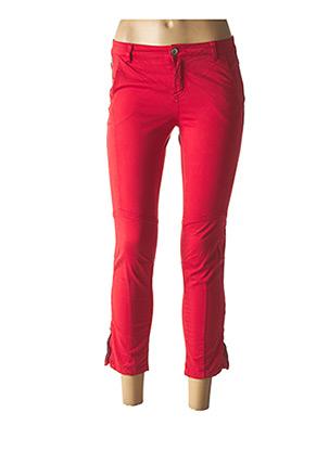 Pantalon 7/8 rouge ONE STEP pour femme