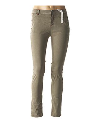 Pantalon casual vert ET COMPAGNIE pour femme