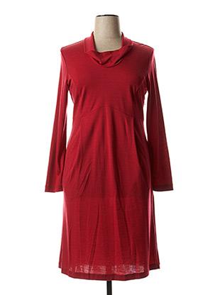 Robe mi-longue rouge ROSSO 35 pour femme