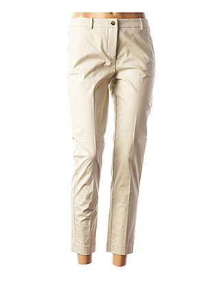 Pantalon 7/8 beige ROSSO 35 pour femme