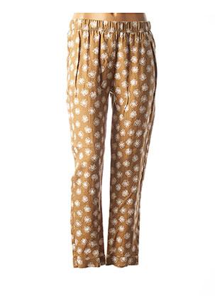 Pantalon casual marron ROSSO 35 pour femme