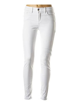 Jeans coupe slim blanc TIFFOSI pour femme