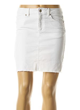 Jupe courte blanc PIECES pour femme