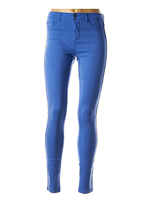 Pantalon casual bleu PIECES pour femme