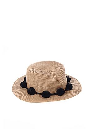 Chapeau beige PIECES pour femme