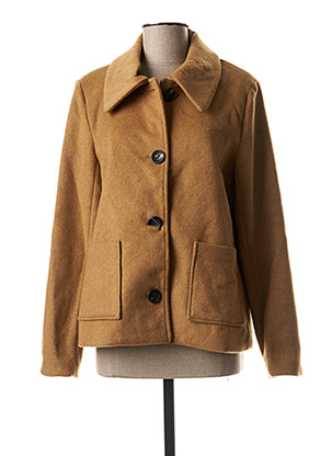 Manteau court beige ONLY pour femme