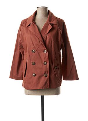 Manteau court marron BLEND SHE pour femme