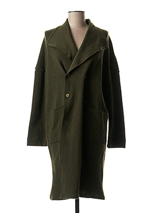 Manteau long vert FIVE pour femme