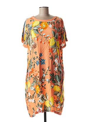 Robe mi-longue orange CECIL pour femme