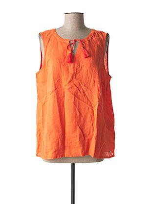 Top orange CECIL pour femme