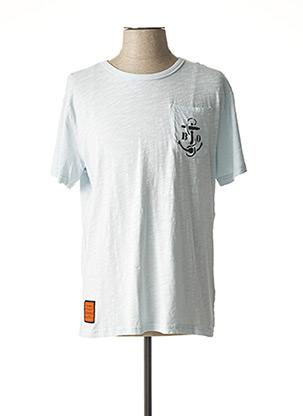 T-shirt manches courtes bleu BOMBERS pour homme