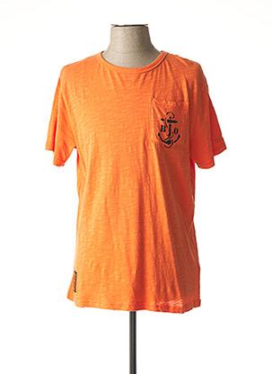 T-shirt manches courtes orange BOMBERS pour homme