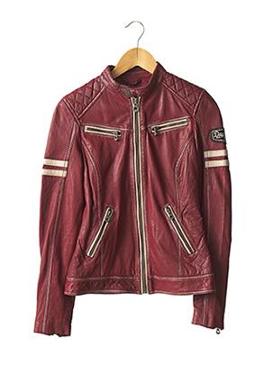 Veste en cuir rouge DAYTONA pour femme
