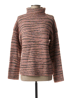 Pull col cheminée rose WHITE STUFF pour femme