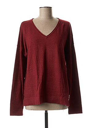 Pull col V rouge THOUGHT pour femme