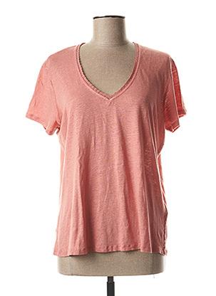 T-shirt manches courtes rose R95TH pour femme