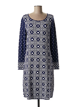 Robe pull bleu FAIRWEAR pour femme