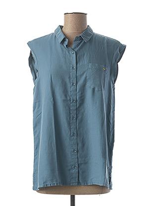 Chemisier manches courtes bleu LEE COOPER pour femme