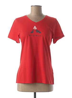 T-shirt manches courtes rouge MC KINLEY pour femme