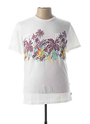 T-shirt manches courtes blanc QUICKSILVER pour homme