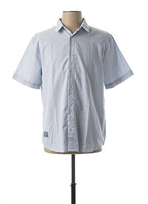 Chemise manches courtes bleu OXBOW pour homme