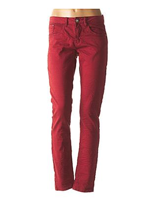Jeans coupe droite rouge CREAM pour femme