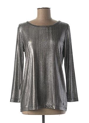 T-shirt manches longues gris TRUSSARDI JEANS pour femme