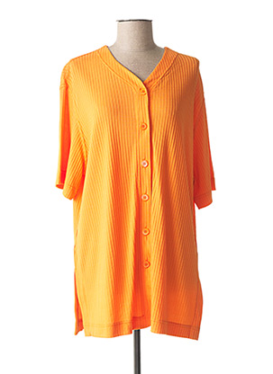 Gilet manches courtes orange RIO pour femme