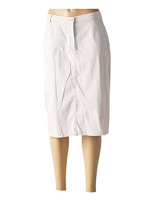 Jupe mi-longue gris GUY DUBOUIS pour femme