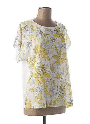 T-shirt manches courtes jaune GRIFFON pour femme