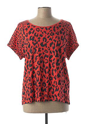 T-shirt manches courtes orange CECIL pour femme