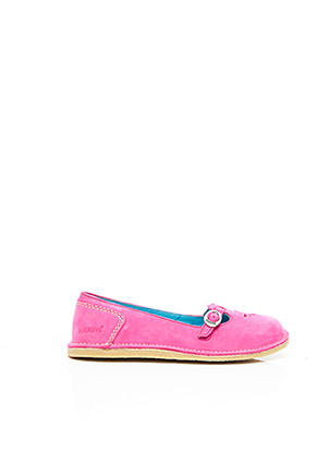 Ballerines rose KICKERS pour fille
