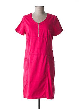 Robe mi-longue rose GUY DUBOUIS pour femme