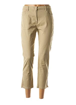 Jeans coupe slim beige C'EST BEAU LA VIE pour femme