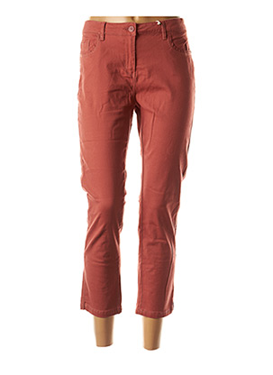 Jeans coupe slim marron C'EST BEAU LA VIE pour femme