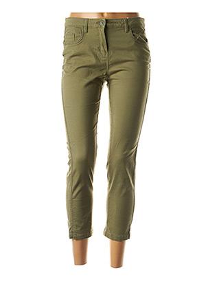 Jeans coupe slim vert C'EST BEAU LA VIE pour femme