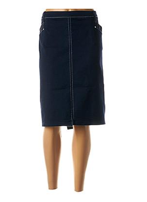 Jupe mi-longue bleu CHRISTINE LAURE pour femme
