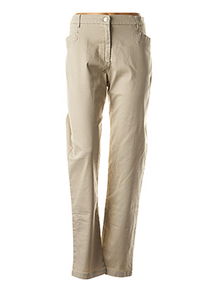Pantalon casual beige CHRISTINE LAURE pour femme